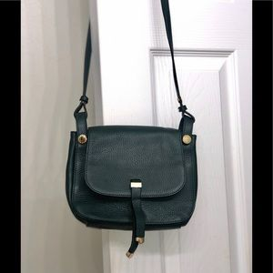 New BCBG Maxaria dark green leather cross bag.
